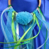 POM POM GLORY HOOP: River, ribbons