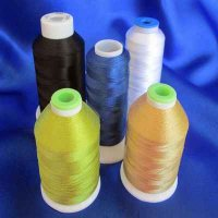 EMBROIDERY THREAD: 5 colors, selection #3