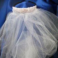 Bridal Veil, 2 tiered with pearls & lace