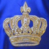 SEQUIN BEADED APPLIQUE: Crown [2-sizes]