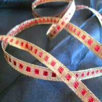 TRIM: Gold & Red Metallic