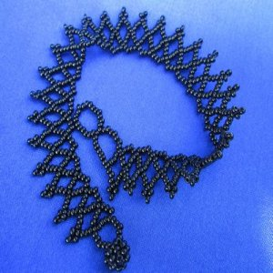 Anklet: Weave - All beads Black