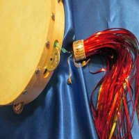 TAMBOURINE: 8 or 10 inch with handmade tassel