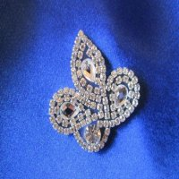 RHINESTONE APPLIQUE: Crystal Leaf