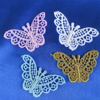 VENICE LACE APPLIQUE: Butterflies