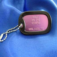 Military Dog Tag Keychain