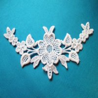 VENICE LACE APPLIQUE: Flowers [pair]