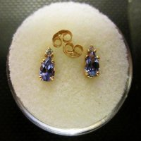 TANZANITE: Earrings w/diamonds