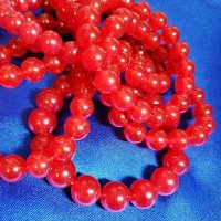 Red JADE: Beaded Bracelet, WARRIOR (11mm)