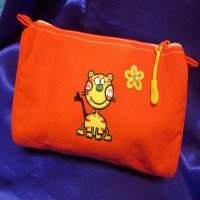 MAKE-UP BAG: 100% cotton, Tabby Cat