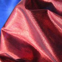 FABRIC: Fiery Red, Tissue Lame'