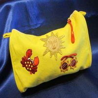 MAKE-UP BAG: 100% cotton, Beachy Girl