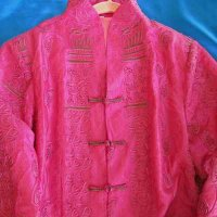 JACKET: Asian style, (pink) beautifully embroidered