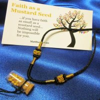 NECKLACE: Faith as a Mustard Seed, glass corked bottle