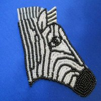 BEADED APPLIQUE: Zebra - all beads