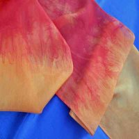 SCARF: 100% silk (Fiery One)