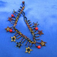 Anklet: Stars & Jingles - bronze, gold, red bells