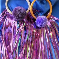 POM POM GLORY HOOP: Purple