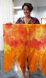 SILK FLAG SET: !FIRE!, large w/flexi-rods