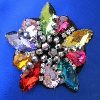 GEMS: Colorful Beaded Rhinestone Applique