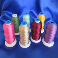 EMBROIDERY THREAD: 7 colors, selection #1