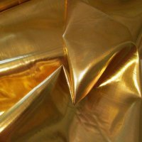 METALLIC FLAG: Sonshine Gold Lame', w/flexi-rod