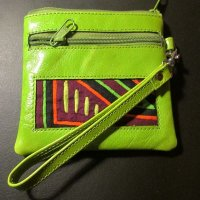 CHANGE PURSE: Leather, Spring Green