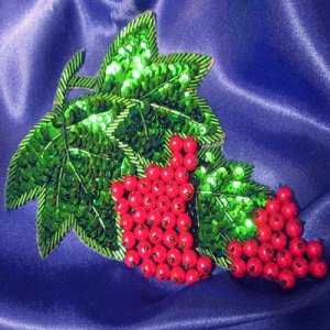 SEQUIN BEADED APPLIQUE: Grapes Cluster