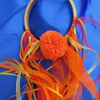 POM POM GLORY HOOP: Fuego! (Fire!), ribbons