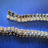 TRIM: Double Rhinestone Chain