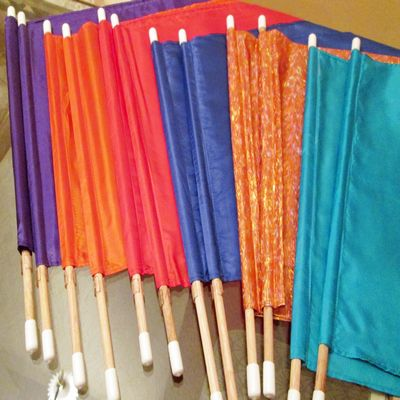 FLAGS - Capped flag-set for children and adults. Great for a flag team.