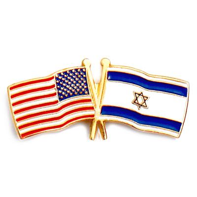 Israel/American Flags: LAPEL PIN