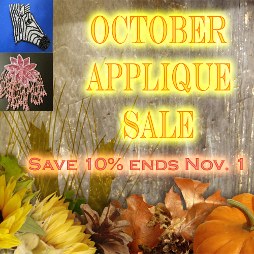 October Applique Sale